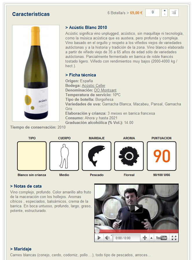 Página del Acústic Blanc 2010