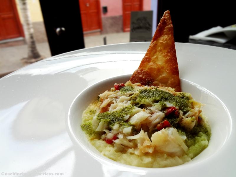 Timbal de bacalao y papas - Restaurante Ambrosía