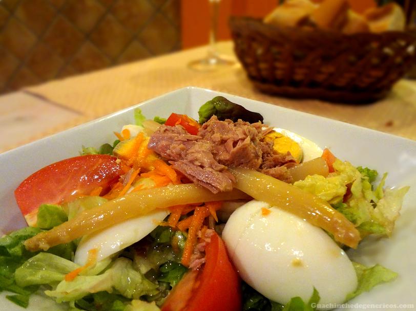 Ensalada mixta, Restaurante Donde Pablo en Madrid