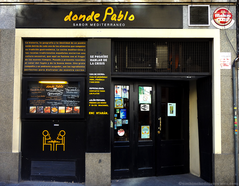 Restaurante Donde Pablo en Madrid