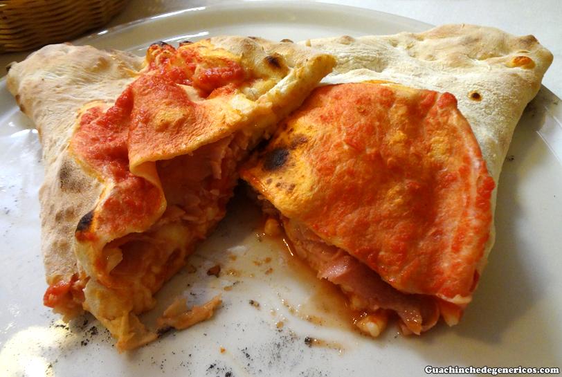 Calzone, restaurante italiano Donnafugata en Madrid