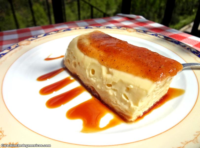 Tarta de queso fresco con muselina de membrillo. Taberna Seguntina, Sigüenza (Guadalajara)