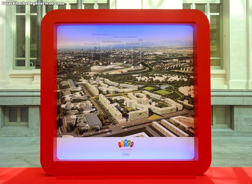 Maqueta del proyecto olímpico Madrid 2020, Palacio de Cibeles, Madrid