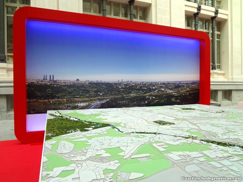 Maqueta del proyecto olímpico Madrid 2020. Palacio de Cibeles, Madrid