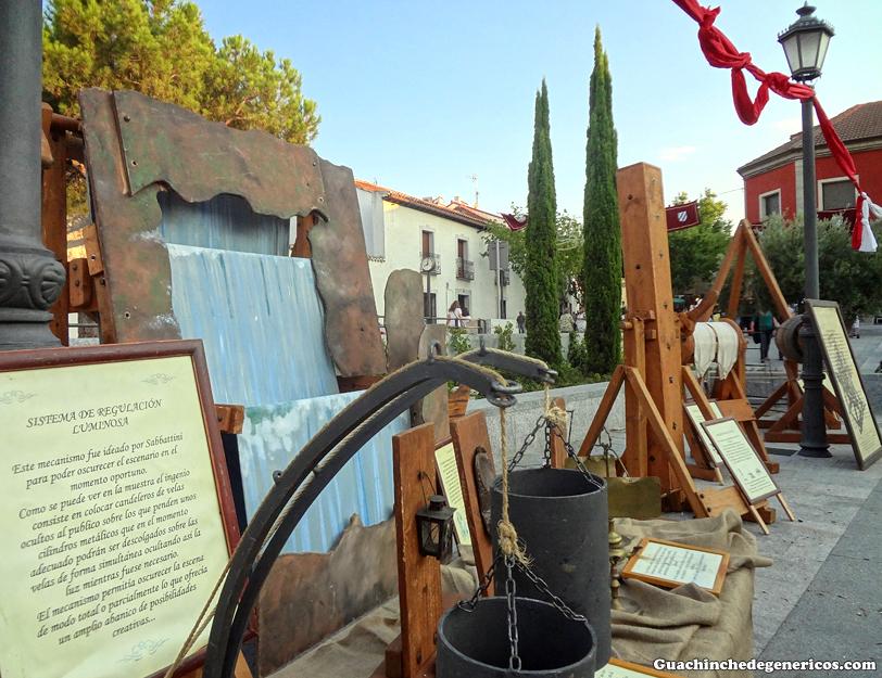 Exposición 'Los inventos del teatro de Sabatini'. Real Mercado 'Siglo de Oro' de la villa de Navalcarnero