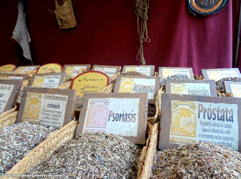 Hierbas naturales. Real Mercado 'Siglo de Oro' de la villa de Navalcarnero