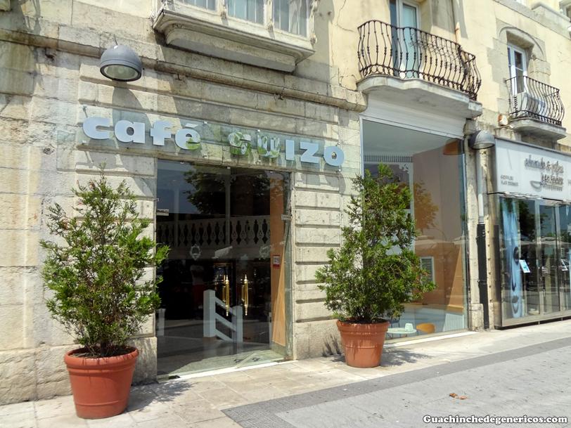 Fachada del Café Suizo. Santander (Cantanbria)