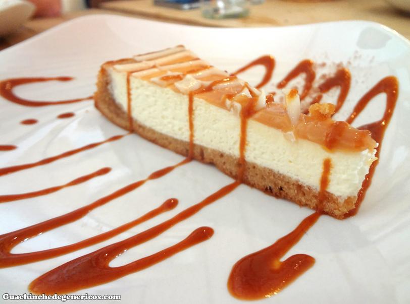 Tarta de dulce de leche. Restaurante Mr. Frank, Madrid