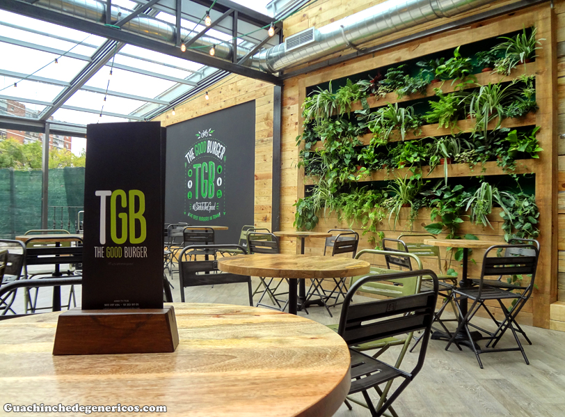 Interior de TGB: The Good Burger, Madrid
