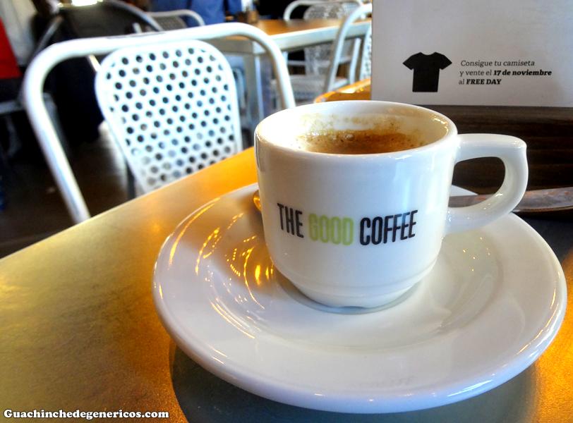 Café. TGB: The Good Burger, Madrid